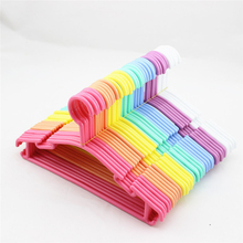 10pcs Plastic Non-Slip Clothes Hanger Skirt Kid Clothes Stand Colorful Clothes Hanger For Baby Child(China)