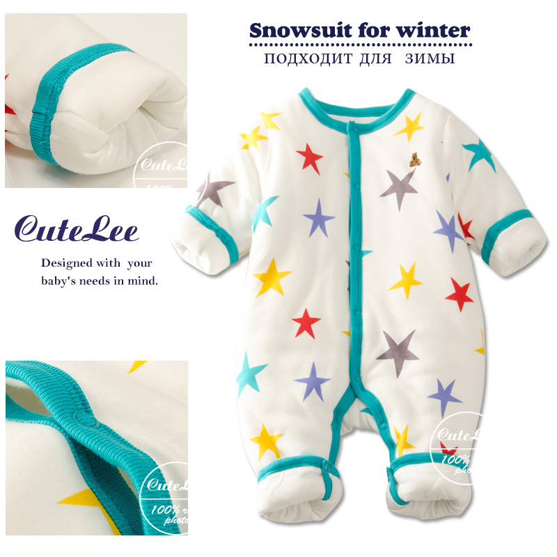 newborn baby winter thicken cotton filling christmas romper infant boy girl unisex clothes long sleeve rompers next baby onesie<br><br>Aliexpress
