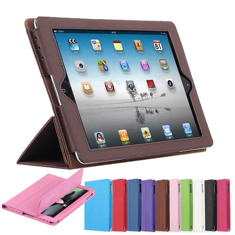 For apple iPad 2 3 4 Official Folding Folio Smart Stand PU Leather Cover for ipad 3 ipad 4 with Retina Display Pouch Bag Case<br><br>Aliexpress