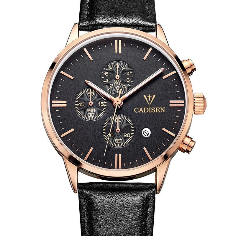 Cadisen Auto Date Sport Watch Men Water Resistant Men Watch Fashion Dress Business Design Leather Quartz-Watch Relogio Masculino<br><br>Aliexpress