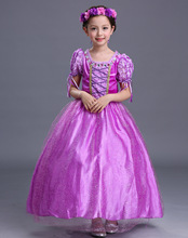 2 / 3 / 4 Pieces Set Children's Clothing Christmas Dressparty Costume for Girls Dress Up Princess Rapunzel Wedding Dress