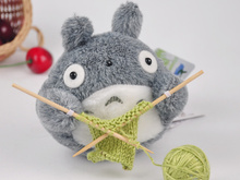 Kawaii 10CM approx. totoro Plush toys , new knitting totoro Gift Plush Stuffed TOY(China)