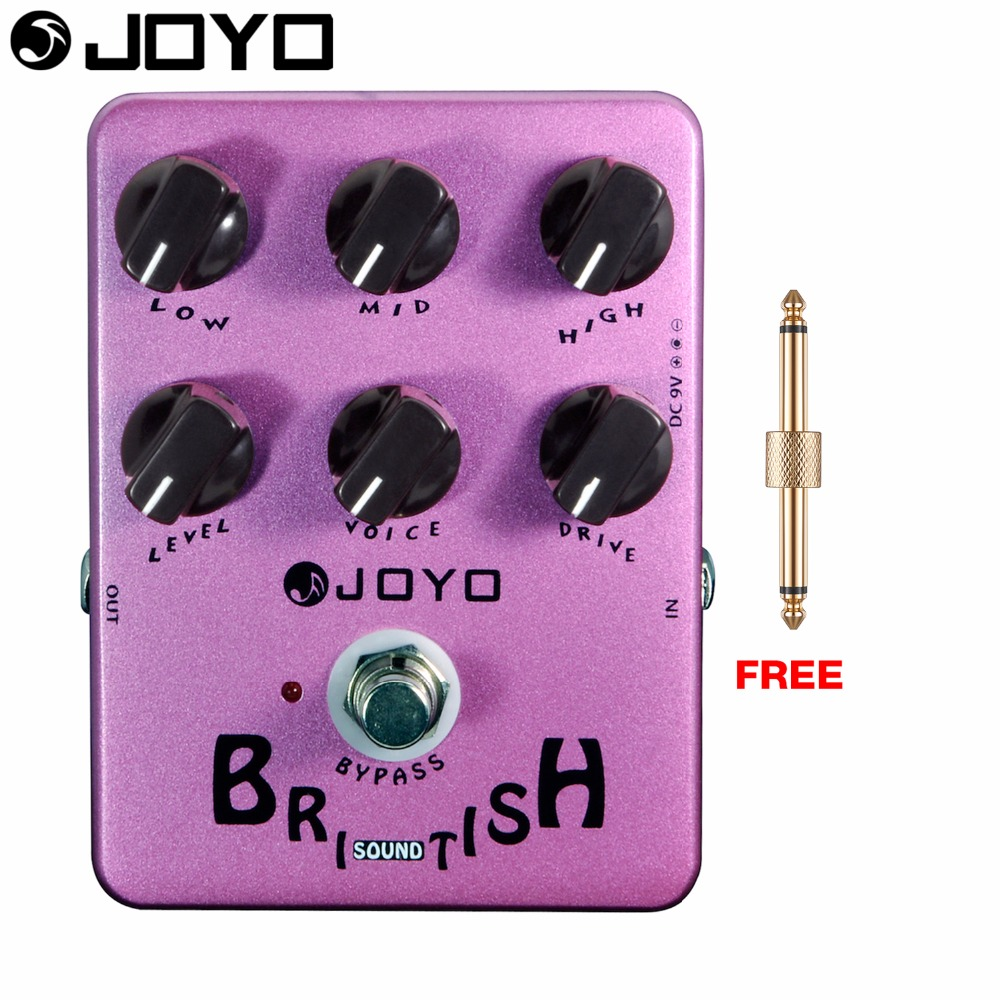 JOYO British Sound Overdrive Electric Guitar Effect Pedal True Bypass All Analog JF-16 with Free Connector<br>