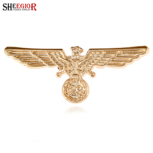 SHEEGIOR Vintage Eagle Wing Brooch Pins Fashion Jewelry Love Peace Collar Brooches for Women Men Commemorate War II Accessories