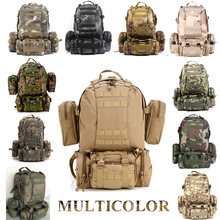 Buy Solid Nylon wearproof Outdoor 60L Sport Climbing Camping Hiking combined Trekking Molle travel Bags Military Tactical Backpack for $38.02 in AliExpress store