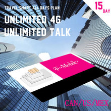 Promotion CAN/US/MEX Super SIM Card 15 Days Plan T-mobile MOBILE PHONE SIM Card Travel Gift Cheapest Price(China)