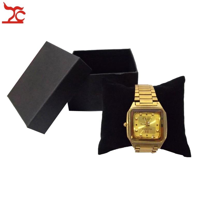 Hot Sale Jewelry Display Box 40Pcs Black Watch Box With Velvet Pillow Holder Bangle Bracelet Present Gift Boxes