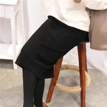 CK627 Fashion Good Quality Knitted Mid Calf Straight Skirt For Woman 2017 New Sexy Bodycon Slim Solid Womens Skirt Stylish Skirt(China)