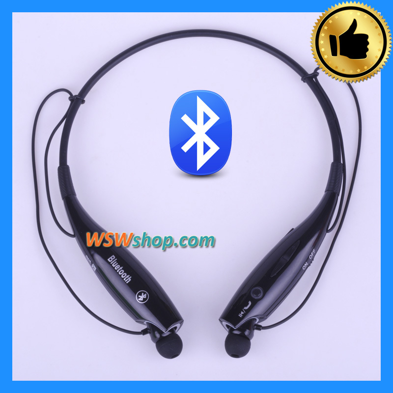 2016 Brand New Neckband Bluetooth Wireless Headset Cordless Headphone In-Ear Earphones For Iphone Samsung - Black Color<br><br>Aliexpress