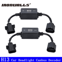 Ironwalls H13 Led Headlight Fog Lamp Canbus Wiring Harness Adapters Decoder 12/24V No Error Load Resistor No  OBC Warning Code