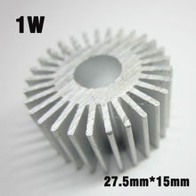 10pcs 1W Heat Sink Radiator, D27mm H15mm Cylinder Aluminum Profile For 1W 3W 5W LED Lamp DIY LED Accessories(China)