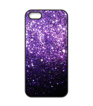 Black Fade to Purple Sparkly Bling Bling cell phone case cover for iphone 4 4s 5 5s 5c SE 6 6s & 6 plus 6s plus 7 7 plus