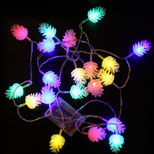 2.2M 20 Leds String lights Colorful Pine Cone Christmas tree holiday decoration lighting indoor outdoor Fairy Lights(China)