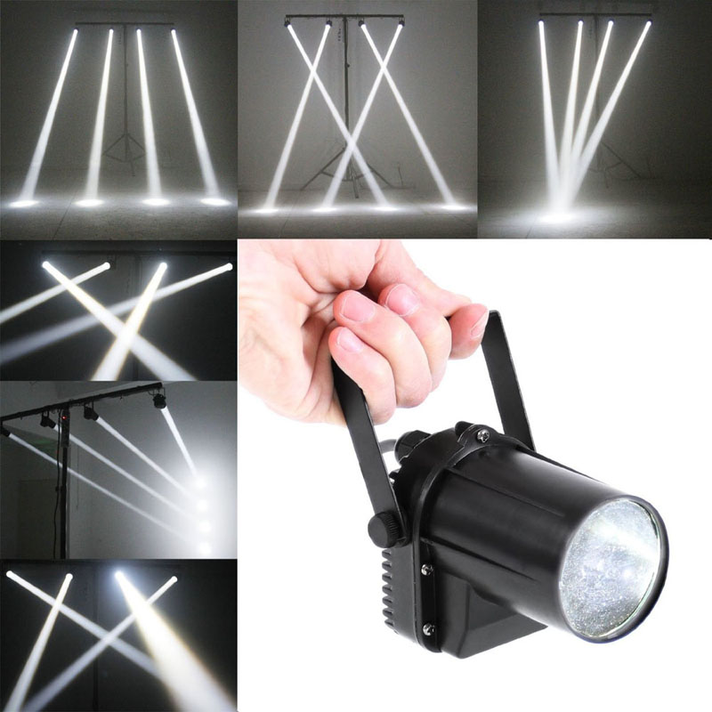 3W White LED Spotlight Mount DJ Disco Party Birthday Effect Stage Lighting Pointer Pattern Lighting FEN#<br><br>Aliexpress