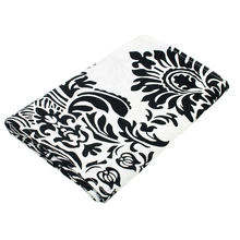Black And White Flocking Damasks Modern  Table Runner 30x275cm for Wedding Hotel Party Banquet Tables Decoration Home Textile