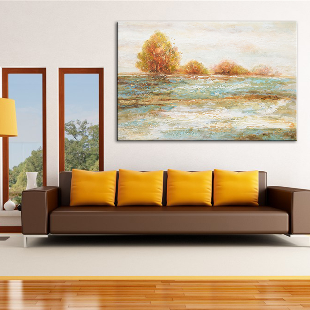 Abstract-River-Water-Hand-Painted-Oil-Painting-Tree-Canvas-Paint-Large-Wall-Art-Decor-Pictures-For (2)