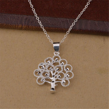 Factory sell well new silver plated jewelry charm cute Women shiny crystal CZ necklace classic style(China)