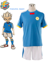 Free Shipping Inazuma Eleven Inazuma Japan Soccer team Summer School Uniform Anime Cosplay Costume(China)