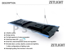ZETLIGHT LED aquarium light by ZETLIGHT ZT6800 ZT-6800 All optical spectrum seawater coral LED lamp