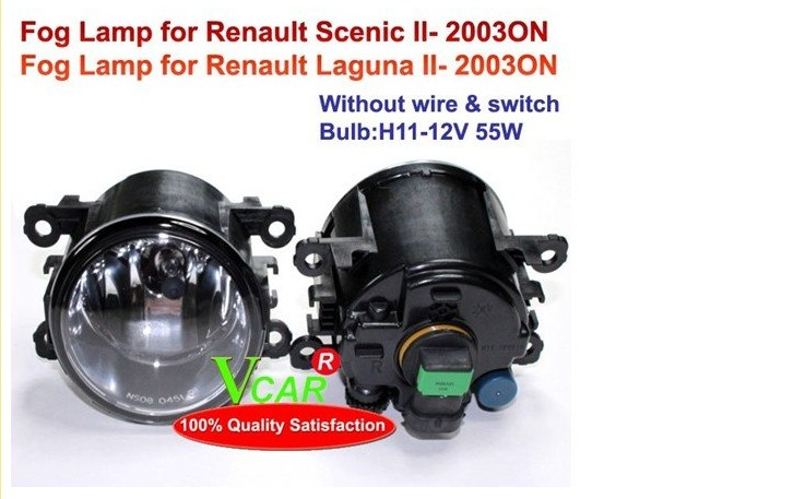Laguna fog light,2004~2009/2011~2013,2pcs,Scenic halogen light,Free ship! Laguna headlight<br><br>Aliexpress
