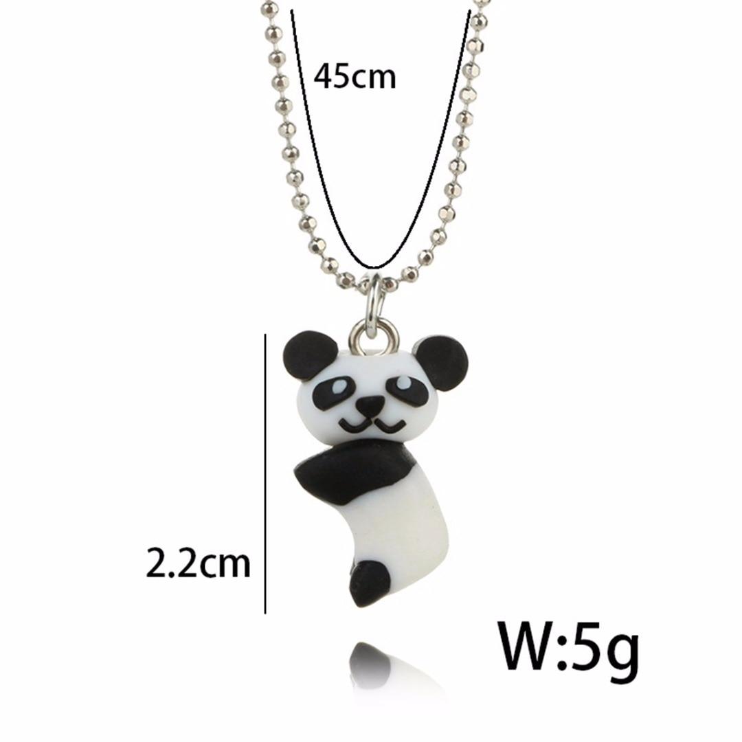 Shellhard Statement Jewelry Women Cute 3D Cartoon Animal Elephant Pig Panda Polymer Clay Necklace Choker Chain Kids Girls Gift