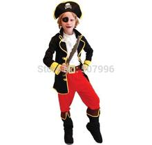 Best Selling Party Supplies Pirate Capain Jack Cosplay Boy Clothing Halloween Costume For Kids Children Christmas Costume D-1059
