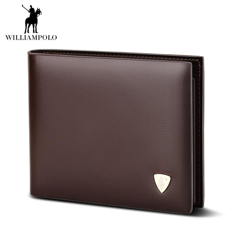 2017 Fashion Slim Men Wallet 100% Genuine Cow Leather Men Purses High Quality Mens Brown Coin Pocket Clutch Bag For Mens Gift<br>