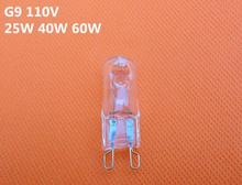 5PCS/LOT Excellent Quality 40W G9 2800-3000K Halogen Lamp Bulb 110V Capsule Clear Warm White Lights(China)