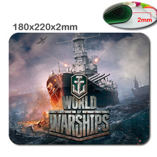 Customized Rectangle World of warship Non-Slip Rubber 3D HD fast printing gaming rubber durable notebook mouse pad 180x220x2mm