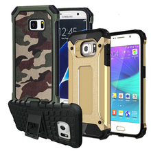 Kickstand Shockproof Anti-knock Armor Slim Hard Rugged Rubber Case Cover For Samsung Galaxy S5 S6 S7 edge A3 A5 2016 J5 J7 PRIME