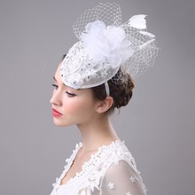 Bride Handmade Feather Women Hair Accessories Headdress Ornaments The Female  Hat Hoop Lady Banquet Business Hat Hairpins
