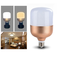 Outdoor Home E27 AC85-265V 5W Gold LED Energy Saving Flat Bulb Home Lamp Light