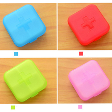 Top Selling Portable 4 Slots Health Pill Case Organizer Medicine Box Storage Case Container Travel Pill Box Color Random