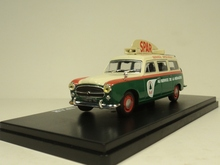 Rare 1:43 French retro 403 BREAK SPAR advertising car model Alloy collection model(China)