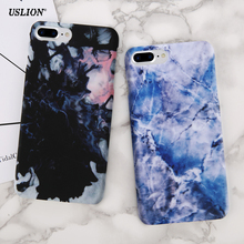 USLION Luxury Marble Pattern Phone Case For iPhone 6 6s 6Plus 6s Plus Colorful Ultraslim Hard PC Cases Back Cover Capa(China)