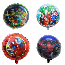 TSZWJ  Superman Batman  Teenage Mutant Ninja Turtles balloons for baby party decorations globos birthday ballon mylar balloon