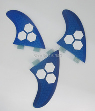 3pcs/lot G5 Surf Fin FCS G5 Tri set for surfboard, blue surf fins SUP board for sale thruster option(China)