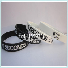 5 SOS wristband,5 SECONDS of SUMMER wristband,silicone bracelet,2 colours,custom design,promotion gift,100pcs/lot,free shipipng