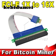 kebidumei New PCI Express 1X to 16X Adapter PCI-E Extender Converter Riser Card 16X Flexible Extension Cable Free Shipping(China)