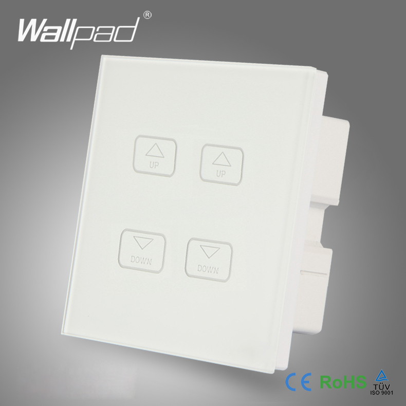 Hot Sales Wallpad Modern White Crystal Glass LED Light 4 Gang Dimming Touch Screen Dimmer Wall Light Switches<br><br>Aliexpress
