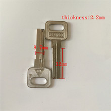 right slot home key blank 32mm length door blank keys wholesale lockpick tools[15pcs/lot](China)
