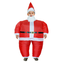 Inflatable Santa Claus Costume Carnival Father Christmas Disfraces Adultos Anime Cosplay Christmas Costume(China)
