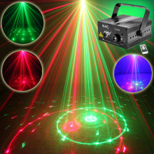 SUNY 3 Lens 12 Pattern Club RG Laser BLUE LED Stage Lighting Home Party Professional Projector illumination DJ Light Disco Z12RG