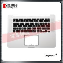 Original A1398 Palmrest Top Case French Keyboard Backlight 2012 For Macbook Pro Retina A1398 FR Keyboard Palm Rest Replacement(China)