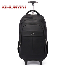 Trolley Backpack On Wheels Men Draw Bar Travelling Back Pack Women Luggage Shoulders Bag For Trip Mochila Big Bagpack High End(China)