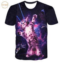 ISTider Brand Clothing Women Men Summer Hiphop 3D Print T shirt Animal Cat Wolf Space Galaxy Harajuku T-shirt Camiseta Masculina