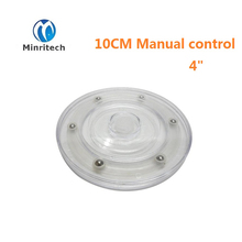 "10cm 4"" The rotating base acrylic transparent plastic turntable turntable rotation display accessories manual turntable"
