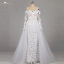 Buy RSW1151 Real Pictures Yiaibridal Shoulder Long Sleeves Detachable Skirt Wedding Dress for $245.10 in AliExpress store