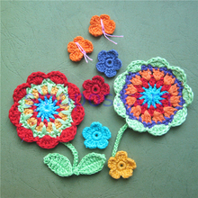 Handmade Yuletide Crochet Colorful Garden, quilting DIY 3D craft cotton fabric christmas decoration flower Leaf butterfly shapes(China)