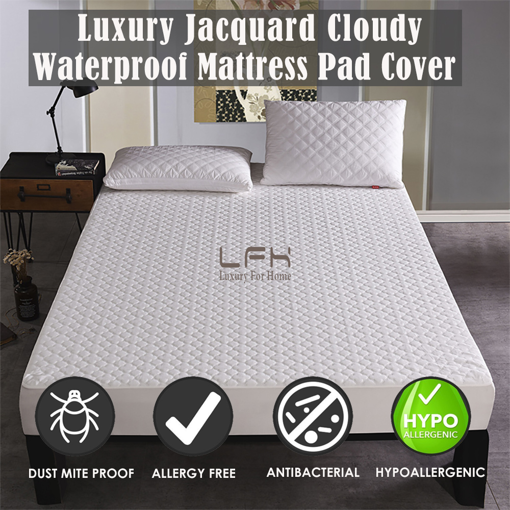 jacquard cloudy mattress pad cover (4)